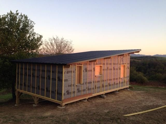 cabane en kit charpente ossature bois